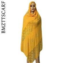 Африканский шарф, Африканский мусульманский кружевной хлопковый шарф с вышивкой, мягкий хлопковый шарф для шалей