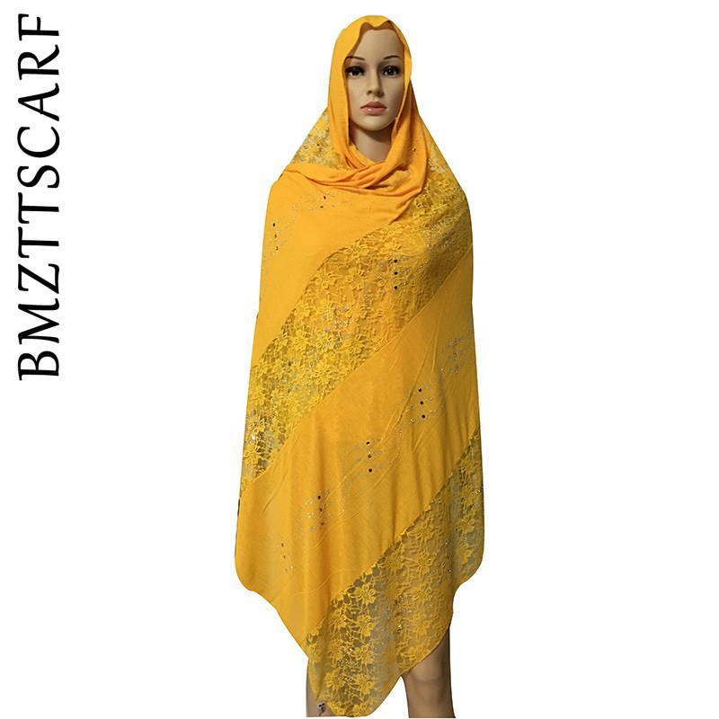 New African Scarf, African Muslim Embroidery Lace Cotton Scarf ,soft Cottton Scarf For Shawls Wraps
