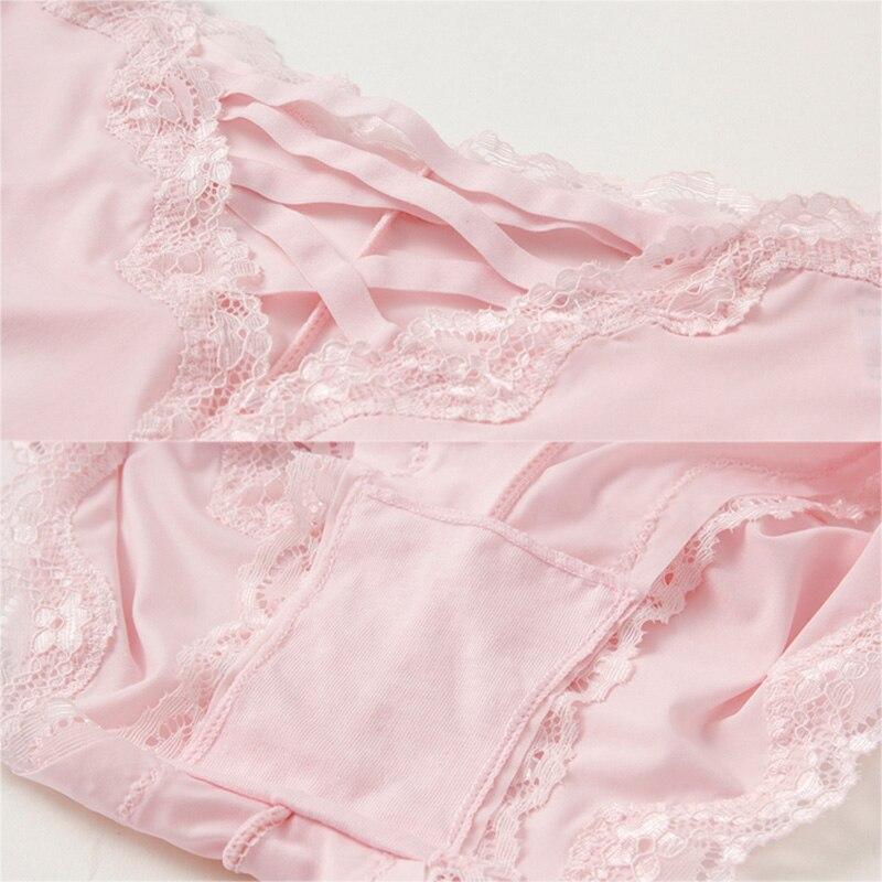 Бандажные ажурные шелковые сексуальные трусики сексуальное женское