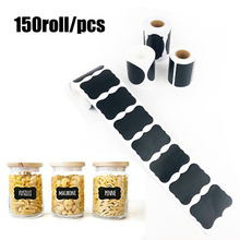 150Pcs/Roll Chalkboard Label Sticker Pantry Storage Stickers for Kitchen Jars Removable Waterproof Blackboard Stationery