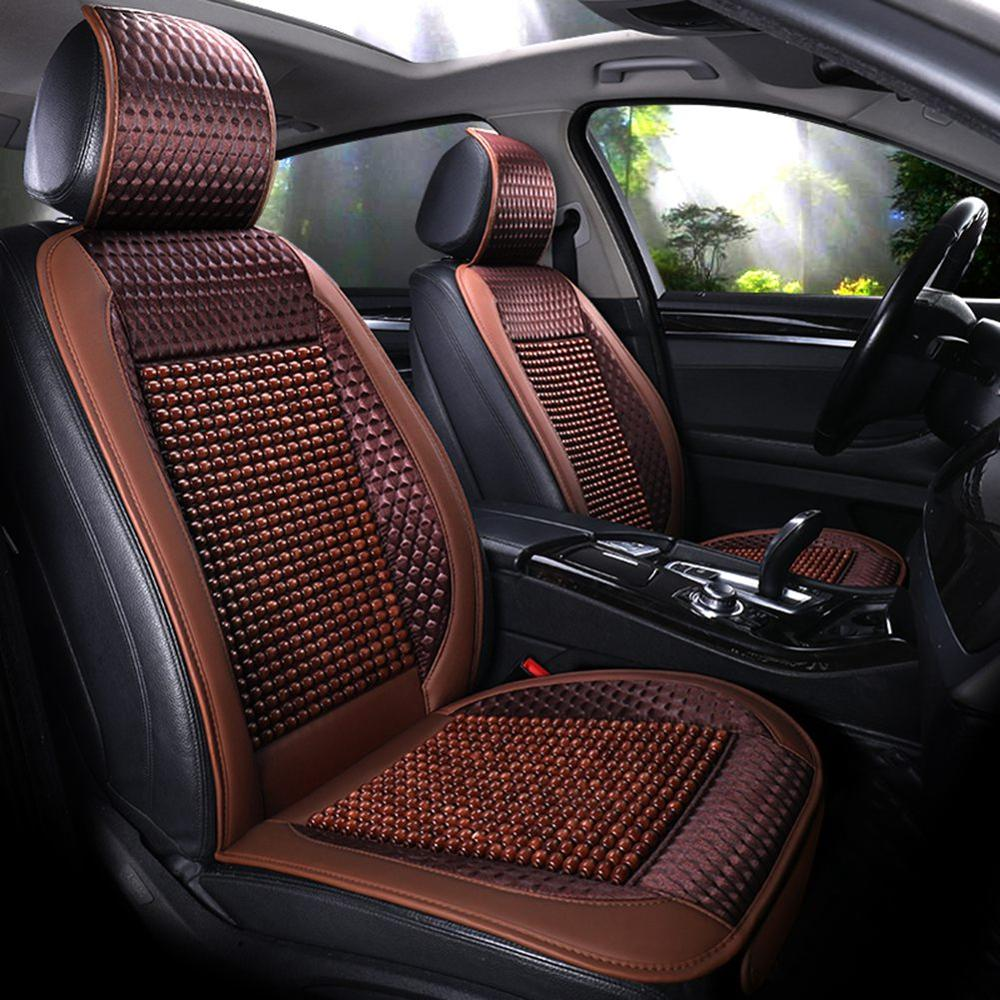 Wood Bead Car Seat Cover Cushion Cooling Breathing Auto Pad Universal Car Cover Protection Interior Accessories