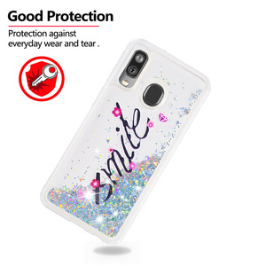Image 4 - Fashion Bling Phone Cases for Samsung Galaxy A40 A20 A30 A80 A90 A60 A20e A10e M40 A2 Core Liquid Quicksand Soft TPU Shell Coque