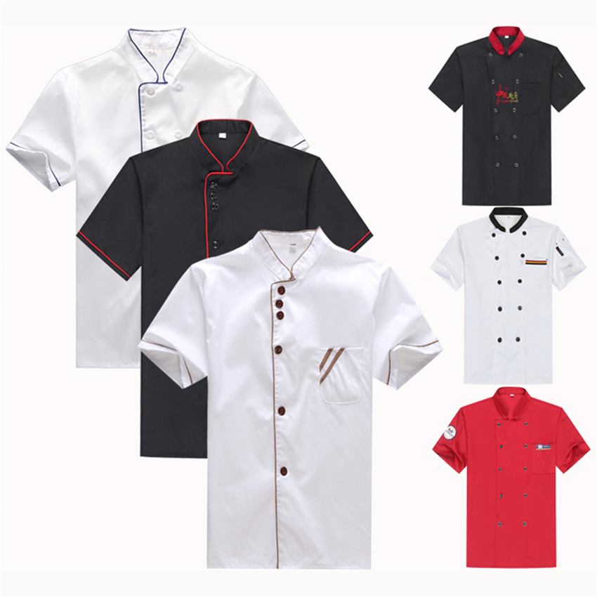 Unisex Chef Uniform Restaurant Kitchen Bakery Cook Work Wear Man Short&Full Bottons Shirt Apron Waitress Clothing Jackets