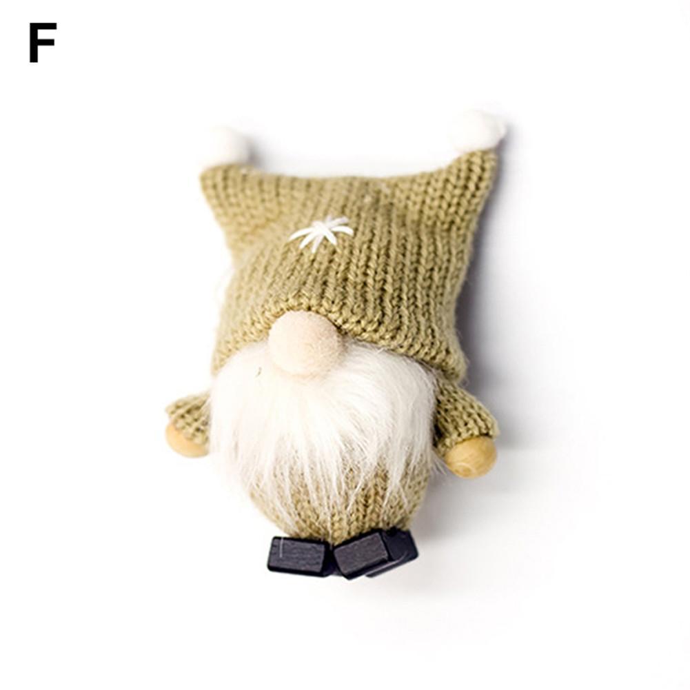 Merry Christmas Short Legged Swedish Santa Gnome Plush Doll Ornament Handmade Elf Toys Holiday Home Party Tree Decoration