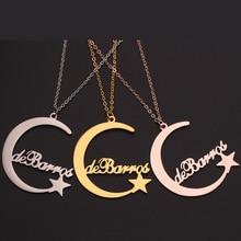 HIYONG Custom Choker Necklace Women Moon Star Pendant Necklace Gold Chain Harajuku Chokers Necklaces for Women Letter Necklaces shuangshuo chain necklace chokers for women deer necklaces