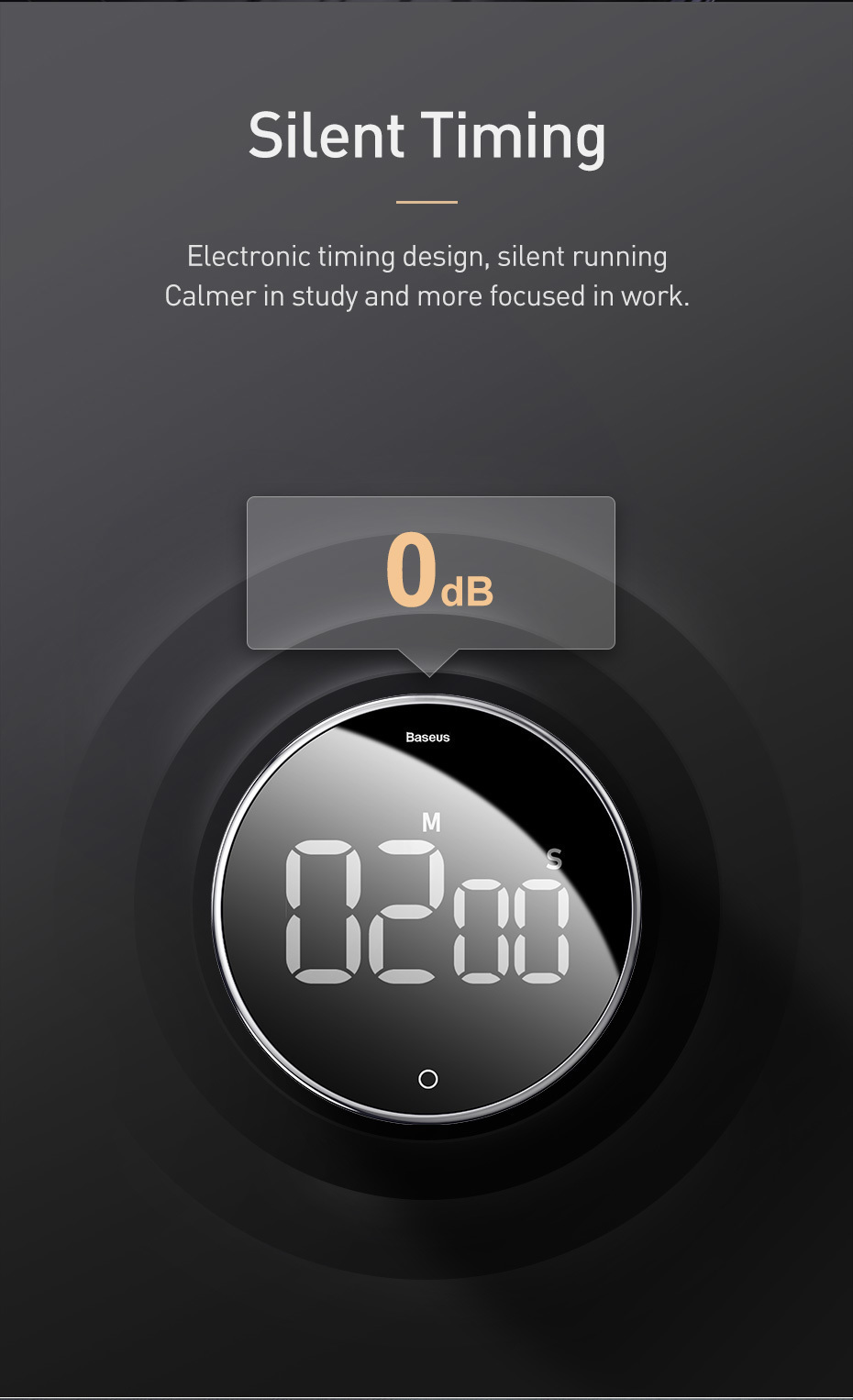 Baseus LED Digital Kitchen Timer For Cooking 7