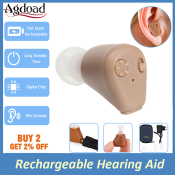 Rechargeable Ear Hearing Aid For the Elderly Deaf Invisible Sound Amplifier Volume Ear Care Portable Hearing Aid
