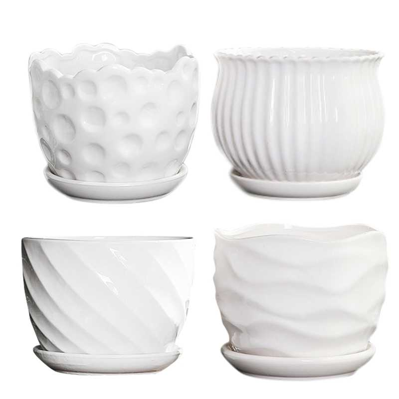 5 Inch Cylindrical Ceramic Flower