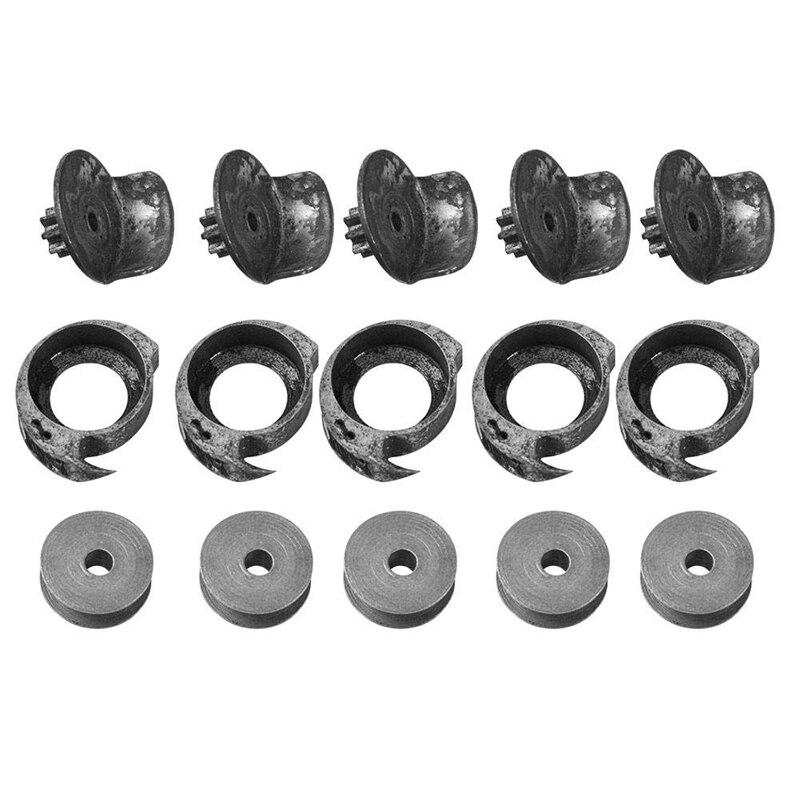 5 Sets/Lot New Full Set Of Spool Shuttle Bobbin Pitman Rod For Shoe Sewing Mending Repair Machine Parts