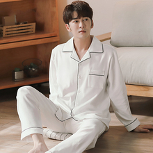 Winter 100% Cotton Pajamas for Men Sleepwear Lounge 2020 Fashion Pyjama Homme White Pijamas Hombre Invierno Cotton Pyjama Male
