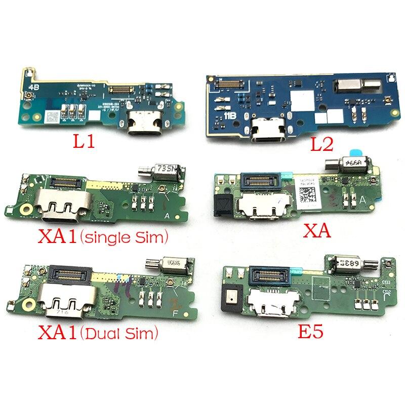 1Pcs Dock Connector Micro USB Charger Charging Port Flex Cable Microphone Board For Sony Xperia E5 L1 L2 M5 XA XA1 XA2 Ultra