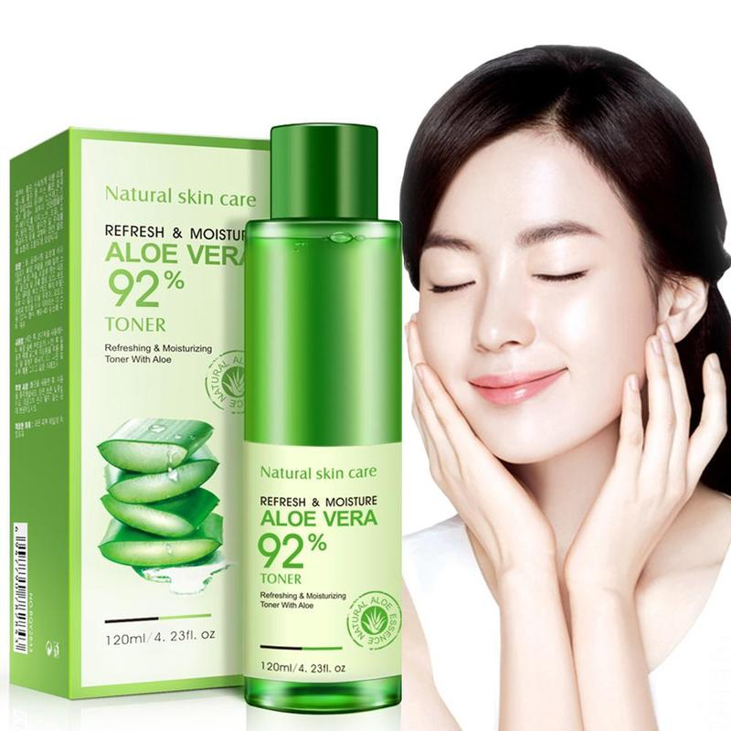 120ml Natural Face Toner Aloe Vera Gel Vc Skin Care Hydrating Moisturizing Vitamin C Lighten Pore Toner Korean Makeup