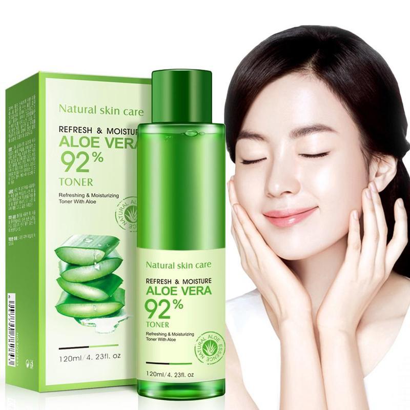120ml Natural Face Toner Aloe Vera Gel Vc Skin Care Hydrating Moisturizing Vitamin C Lighten Pore Toner Korean Makeup