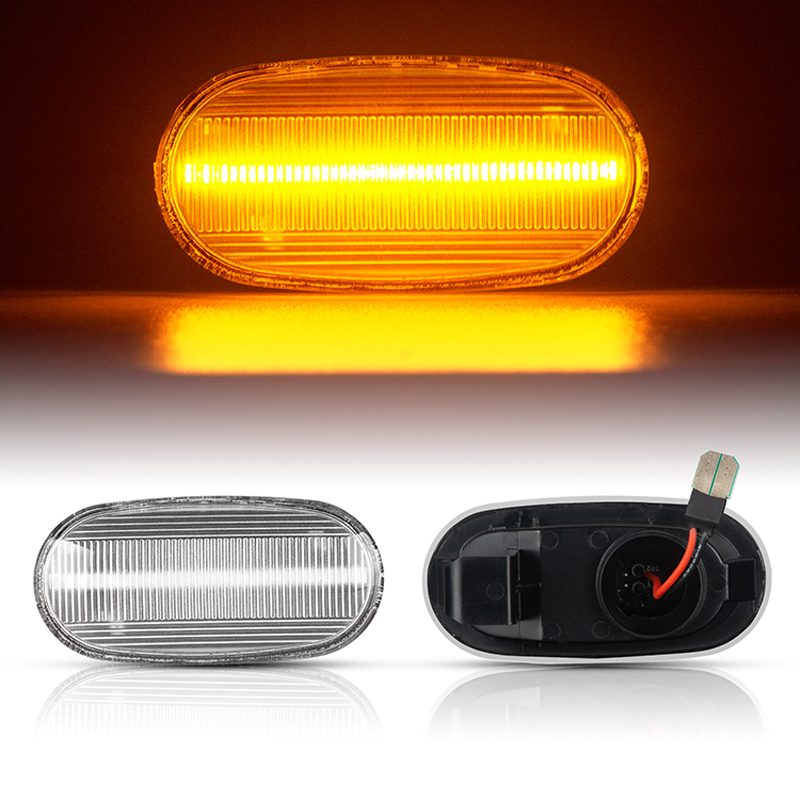 2Pcs Dynamic Side Marker Turn Signal Sequential Blinker indicator Lights For Mitsubishi Pajero Mirag Legnum Gelent 1998-2005