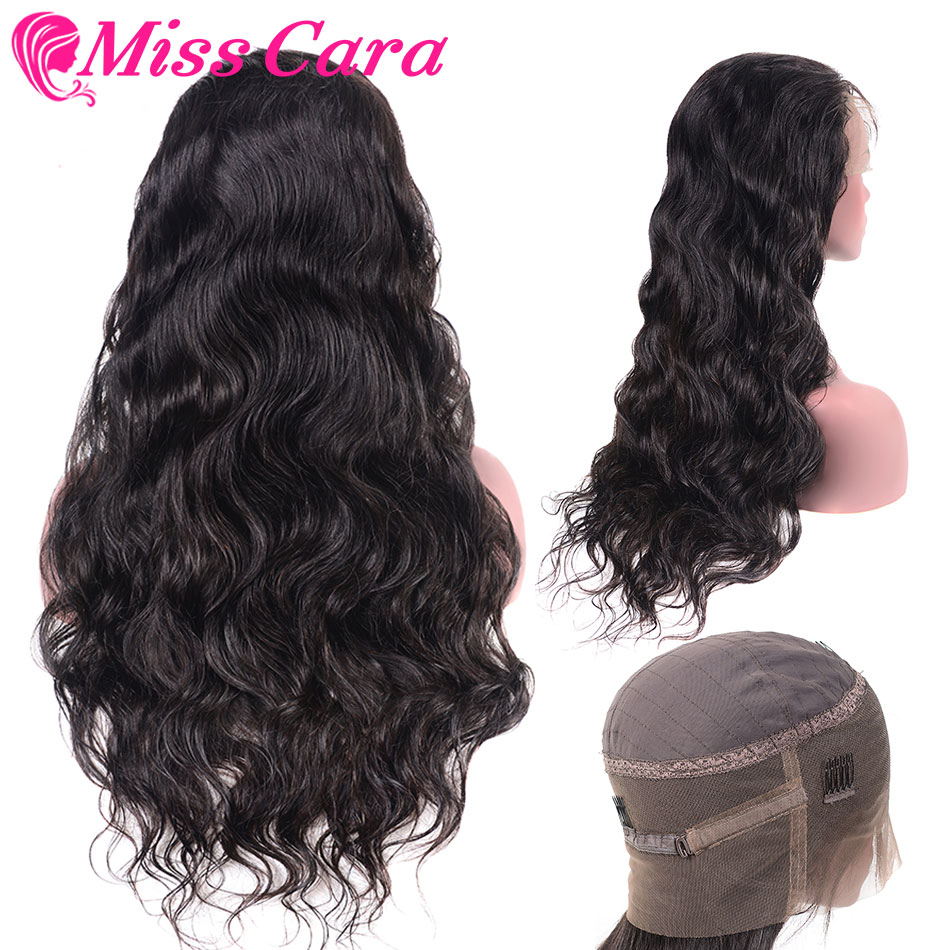 Miss Cara 360 Lace Frontal Wigs Pre Plucked With Baby Hair Full Peruvian Body Wave Human Hair Lace Front Wigs For Black Women