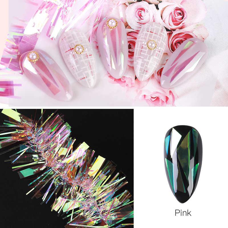 Yeni tırnak Aurora selofan ayna sırlı tırnak Sticker tırnak pembe Nail Art moda makyaj iyi kullanım
