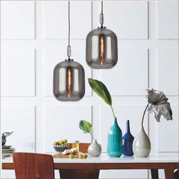 Modern LED Glass Stone Pendant Lights Bar Lighting Art Decor Metal Pendant Lamps Living Room Bedroom Kitchen Fixtures Luminarie