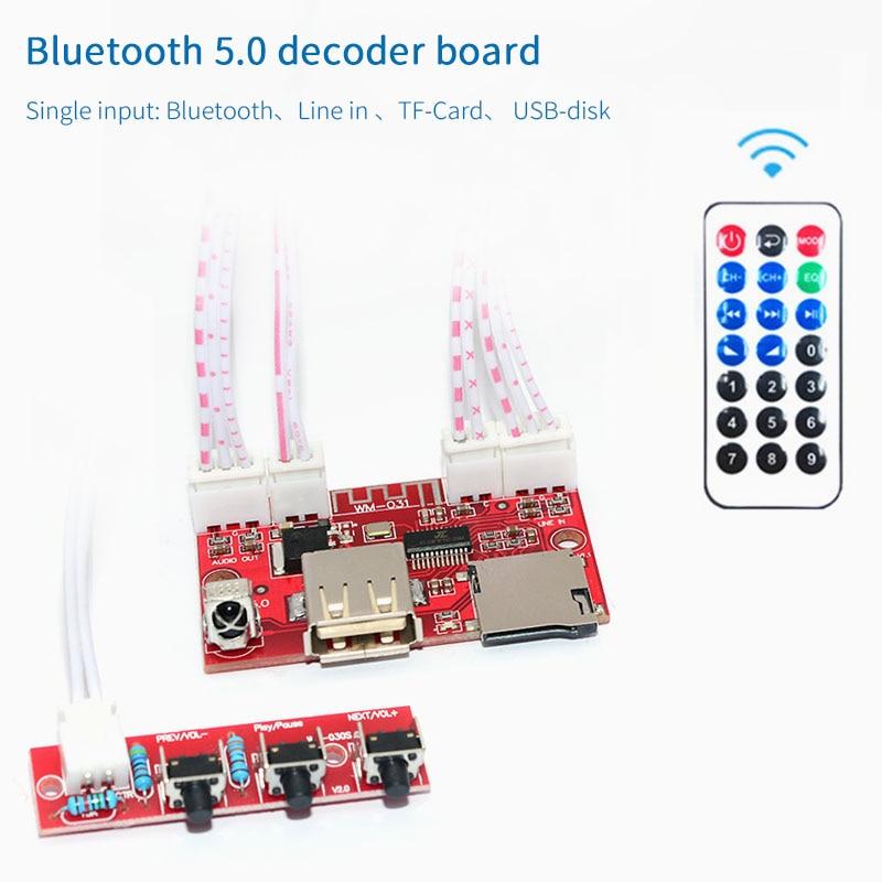 Image 2 - UNISIAN Bluetooth 5.0 decoder Board USB u disk tf card Aux Signal input Support MP3  WMA WAV FLAC APE remote control DAC DecoderDigital-to-Analog Converter   -