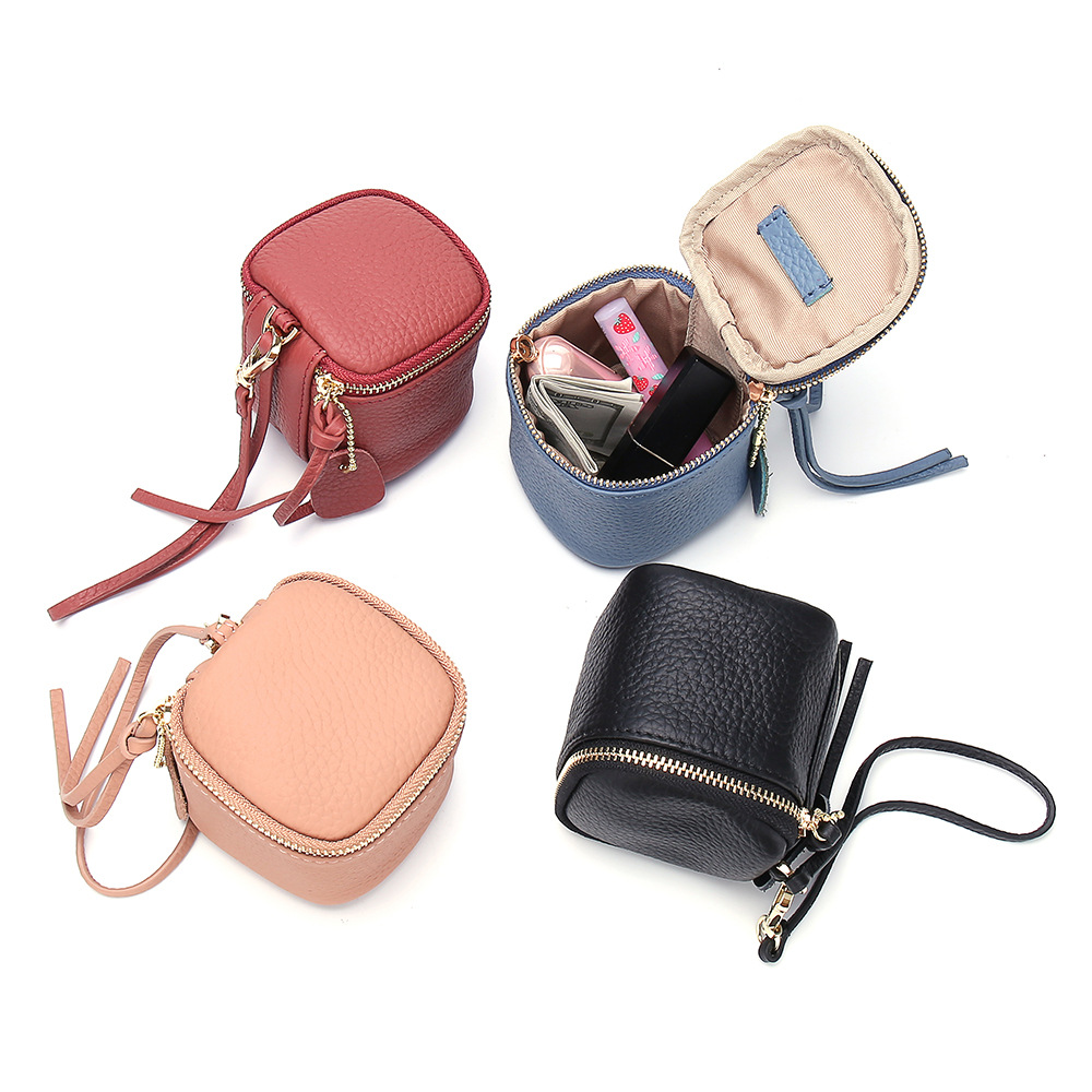 2019 New Style Air Cushion Cosmetic Bag Kou Hong Bao Genuine Leather Small Women's Purse Carrying Coin Bag Cool