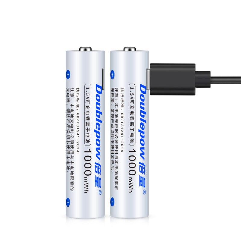 1 pc 1.5 v 1000mwh aaa bateria recarregável de carregamento usb li-ion bateria recarregável para câmera lanterna brinquedo calculadora bateria