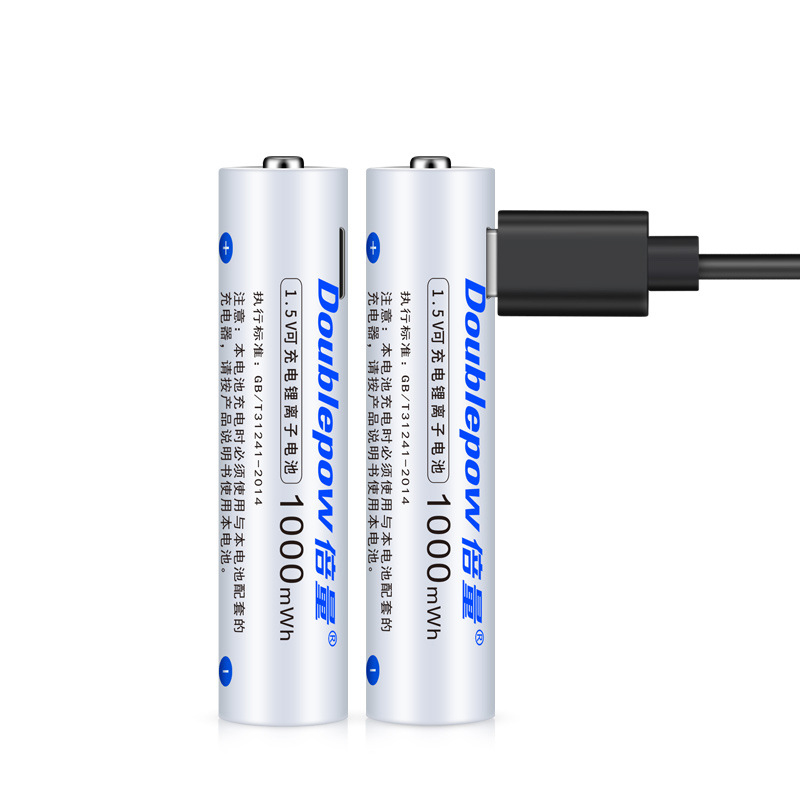 1PC 1.5V <font><b>1000mAh</b></font> <font><b>AAA</b></font> <font><b>Rechargeable</b></font> Battery USB Charging Li-ion <font><b>Rechargeable</b></font> Bateria for Camera Flashlight Toy Calculator Pre-Char image