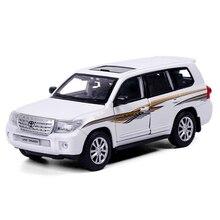 1:24 Toy Car Model Metal Wheels Simulation Lands-Cruisers Al