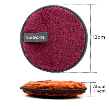 Reusable Makeup Remover Pads Cotton Wipes Microfiber Make Up Removal Sponge Cotton Cleaning Pads Tool 3