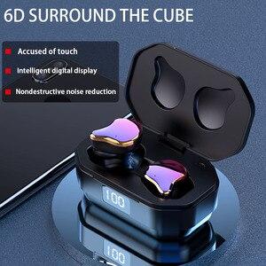 Image 5 - QCR G01 Draadloze Hoofdtelefoon 5.0 TWS Bluetooth Oortelefoon Echte Draadloze Stereo Oordopjes Sport Handsfree Oortelefoon Met Opladen Mic