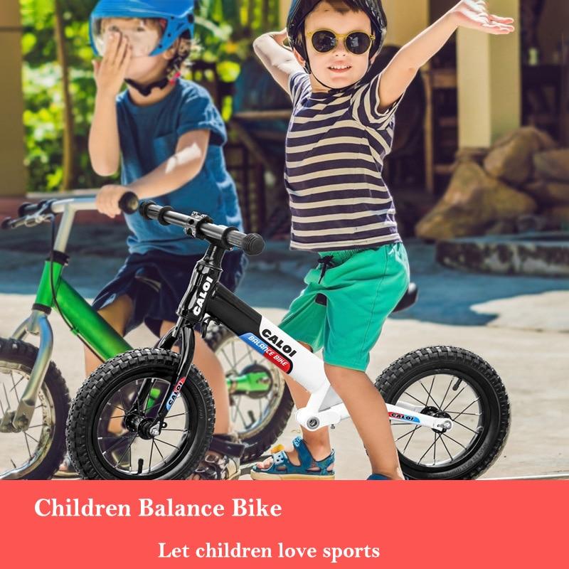 Детский Сияющий балансировочный автомобиль для езды на велосипеде, игрушки, двойное колесо, раздвижной автомобиль, регулируемый, без педали, для детей 2 6 лет - 2