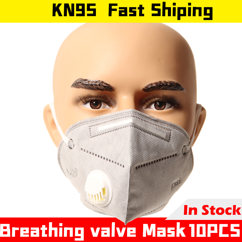 10PCS Dust Mask KN95 Safety Dustproof Breathable Industrial Folding Respirator PM2.5 Formaldehyde Spray Paint Working Face Mask