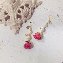 womens earrings in jewelry    customized earings    gold earring     Royal earrings Handmade Vintage rose earrings