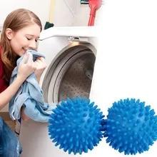 2pcs/set Reusable Laundry Balls Washing Machine Laundry Dryer Ball Soft Plastic Cleaning Tools Accessories Trockner Ball