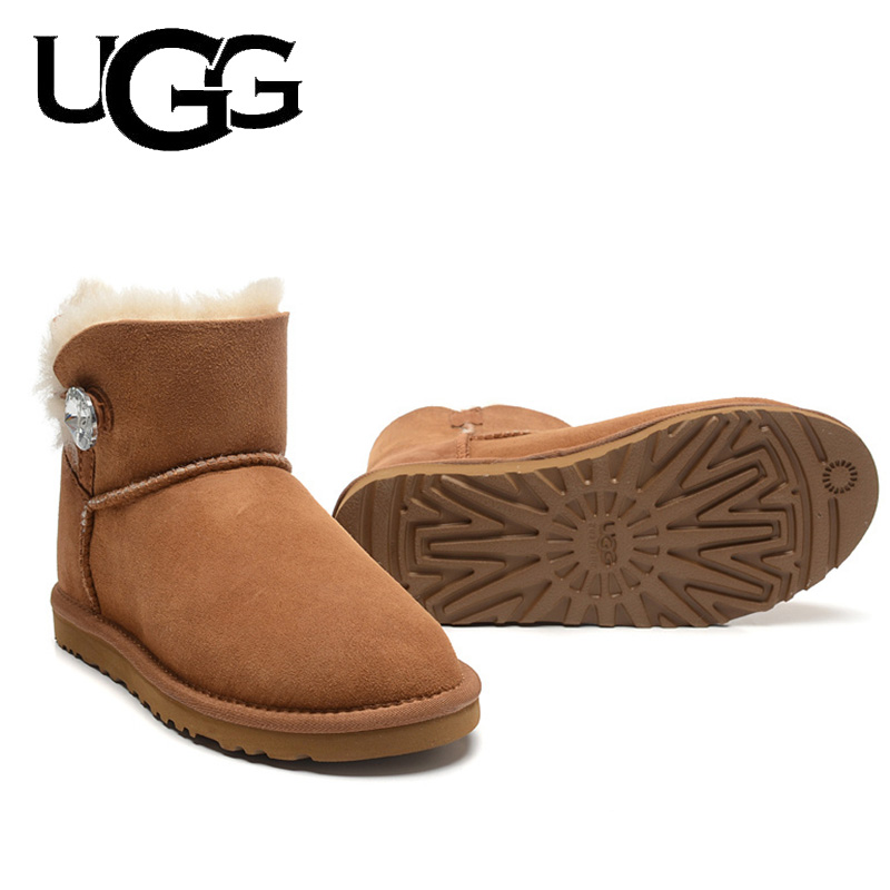 Ladies Classic UGG Boots Original 1003889 Mini Boots With Button Ugged Women Boots Snow Boots For Women Australia Boots Fur Wool