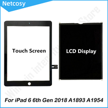 For iPad 6 6th Gen 2018 A1893 A1954 Touch Screen Digitizer panel / LCD Display Screen For ipad Pro 9.7 2018 A1893 A1954