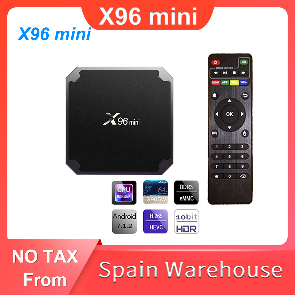 Amlogic S905W Smart TV X96 Mini Android 7.1 TV BOX 2.4G Wifi 4k Media Player Set Top Box X96mini 2GB 16GB Smart TVBox