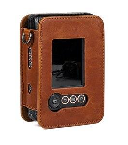 Image 4 - Für Fujifilm Instax Mini Liplay Hybird Instant Film Kamera Tasche Fall PU Leder Retro Schwarz Braun Weiß Tragen Abdeckung Schulter taschen