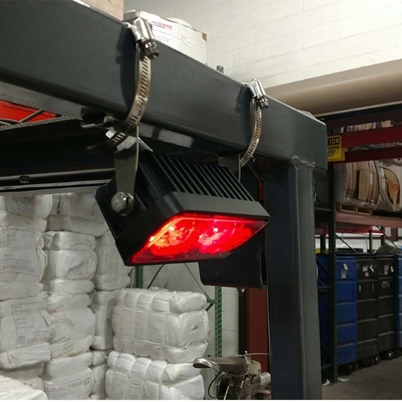 DC 80 Forklift Accessories Shown Wide Light Forklift Truck Lamp Roller Region Radium Shoots The Red Line Area
