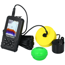 Беспроводной гидролокатор 118FT дальность глубины рыболовный искатель портативный 2,8 дюймов lcd рыболокатор лодка оборудование для подледной рыбалки