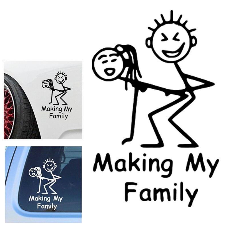 Автомобильная наклейка, Светоотражающая наклейка для автомобиля креативные автомобильные Стикеры, оформление моей семьи, 15*9,5 см, забавные ...