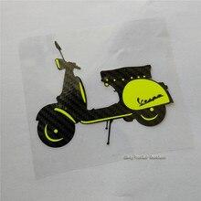 Углеродное волокно мотоциклетные наклейки для Vespa скутера мотоцикл виниловые наклейки Гонки Мотокросс наклейки Супербайк Байк