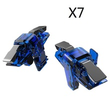 X7 L1 R1 Mobile Game Controller Gamepad Phone Game Trigger Fire Shooting Aim Button Joystick for PUBG Gaming 50pair lot cheap universal ABS+metal