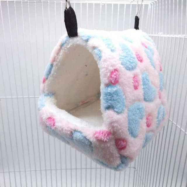 Cute Small Pet Bird Parrot Hamster Soft Comfortable Nest Plush Hanging Hammock Nest House Sleeping Bed Warm Nest Pet Products 3