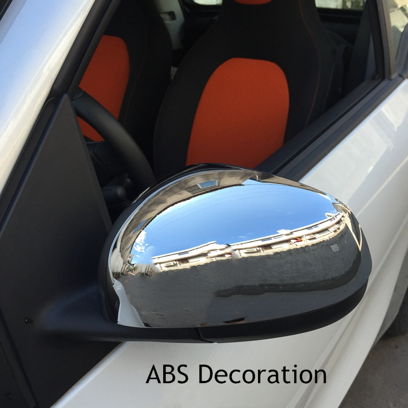 car carbon fiber rearview mirror covers for smart fortwo forfour 2015 2018 new auto car accessories|Mirror & Covers| |  - title=