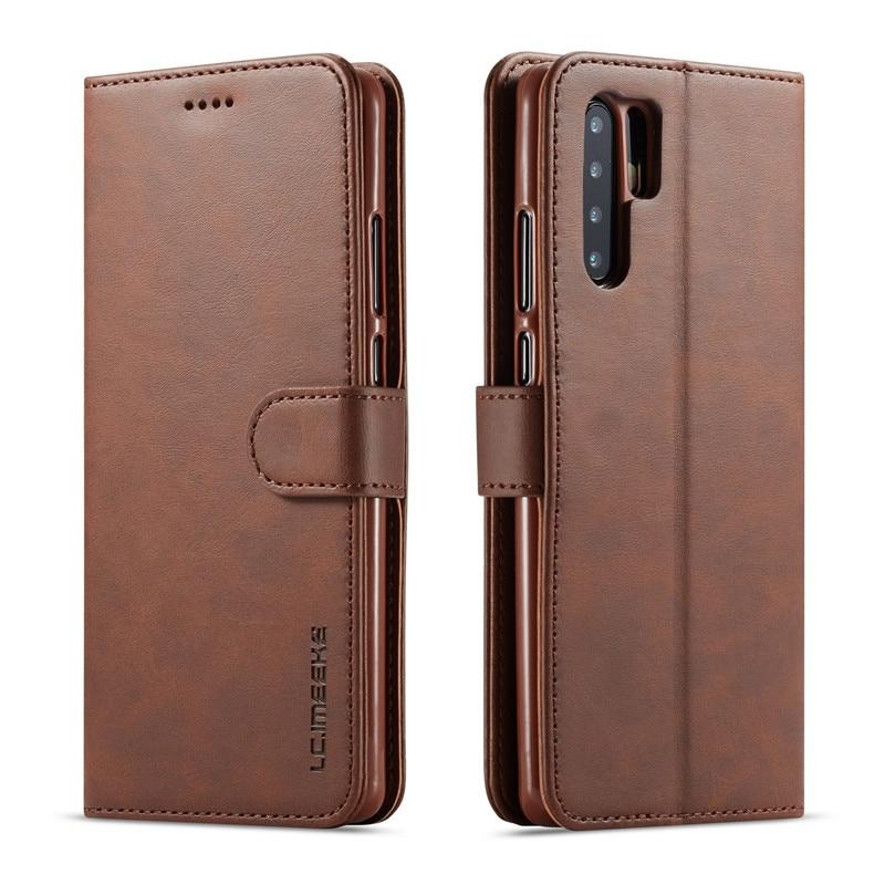 Portefeuille magnétique etui de téléphone en cuir synthétique polyuréthane pour Huawei P30 P20 Pro Lite P10 lite Honor 8X 9X Honor 10 Lite support Mobile