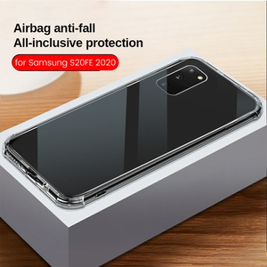 transparent airbag phone case for samsung galaxy s20 fe 5g 2020 s20fe fan edition sm-g781b 6.5'' soft sliicone shockproof coque