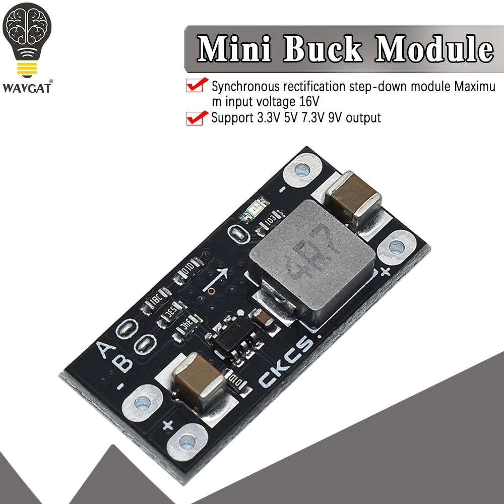 Power Supply Module 2A Buck Board Multi-function Mini DC-DC Buck Step-down Input 4.5-16V Output 9V 7.3V 5V 3.3V WAVGAT
