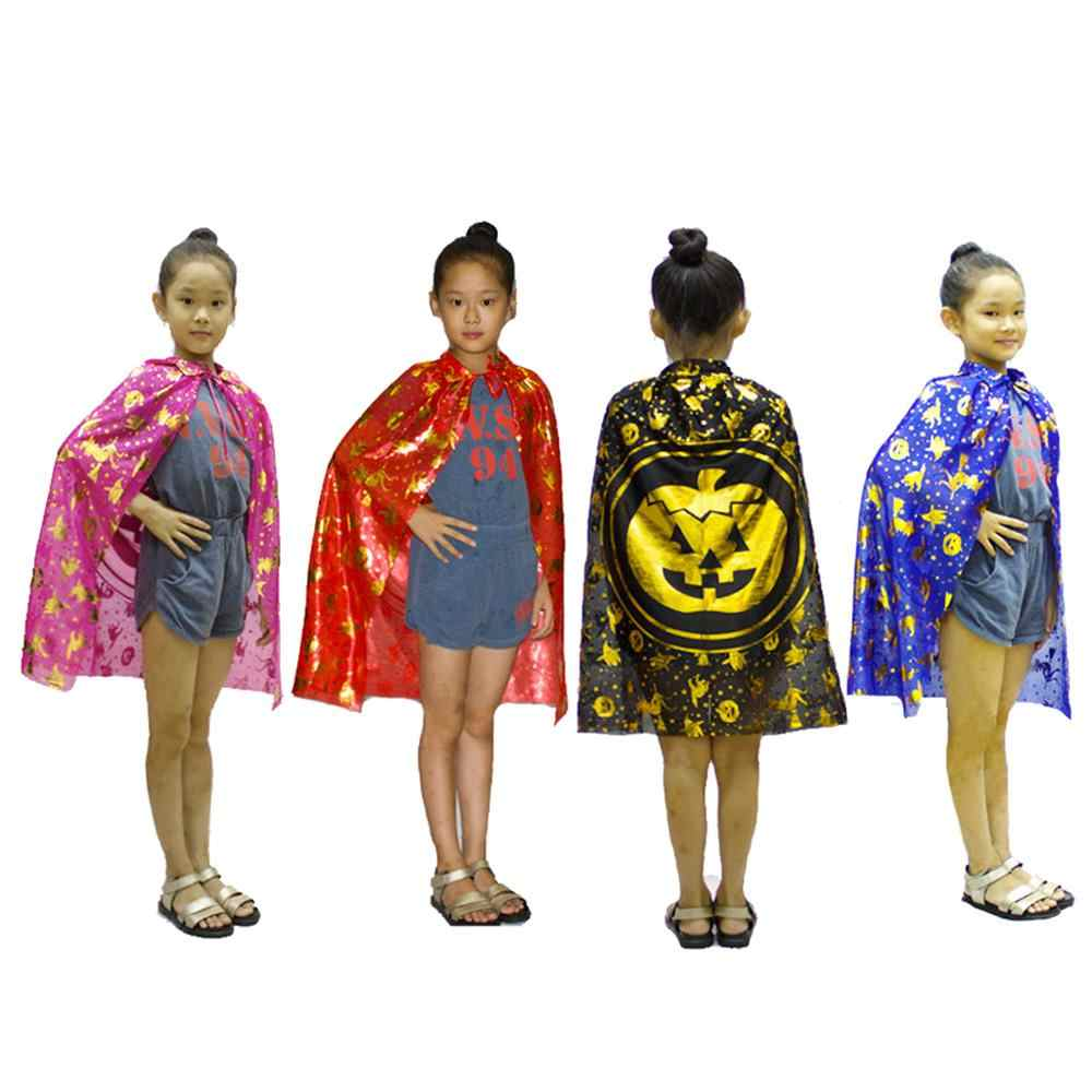 prettyia Halloween Witch Cloak Robe Pumpkin Style Cape for Kids Dress Party Masquerade Christmas Fancy Dress Costumes