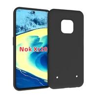 Funda de silicona antideslizante Compatible con Nokia XR20, funda transparente de TPU suave transparente, color negro mate, antideslizante