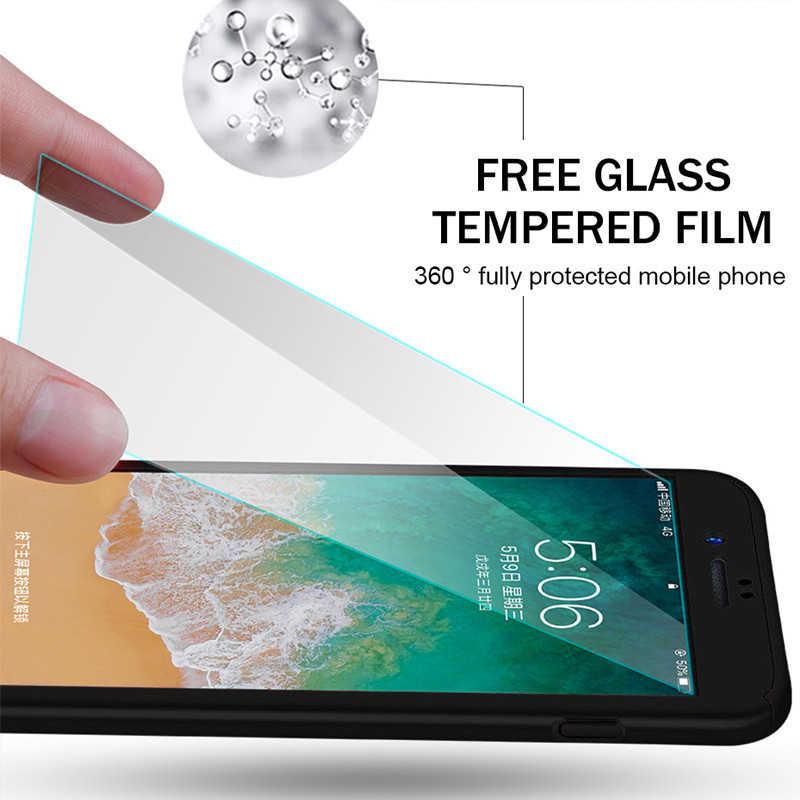 Caso do telefone à prova de choque para o iphone 8 7 6 s plus 5 5S se embalagem 360 capa de corpo inteiro para o iphone 11 pro xr xs max x casos com vidro