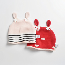 Girl Beanie Winter Knit Hat Autumn Warm Baby Red Outdoor Accessory For Kid